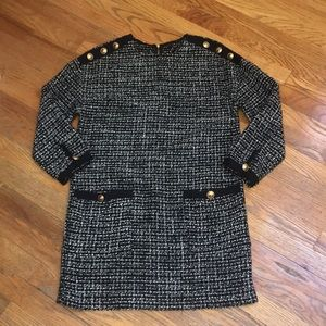 EUC Zara trf collection Tweed Dress